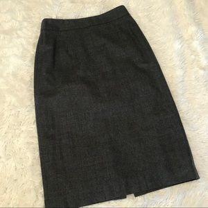 Banana Republic Gray Wool Stretch Pencil Skirt